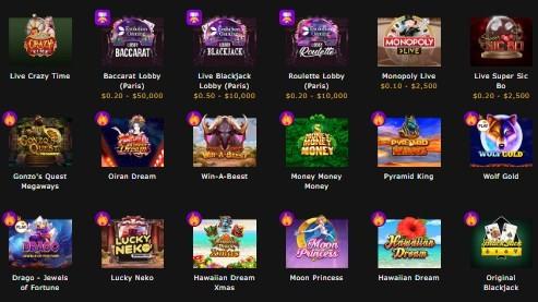 カジノ間トップゲーム